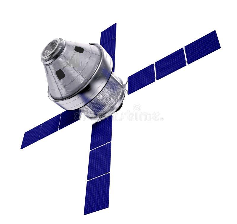 Geïsoleerde satelliet stock afbeeldingen