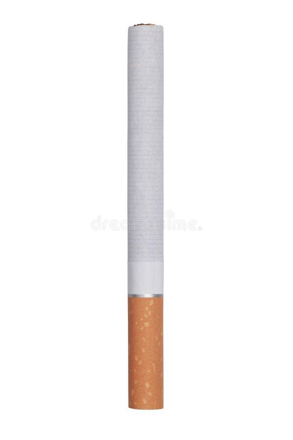 Geïsoleerde sigaret stock foto