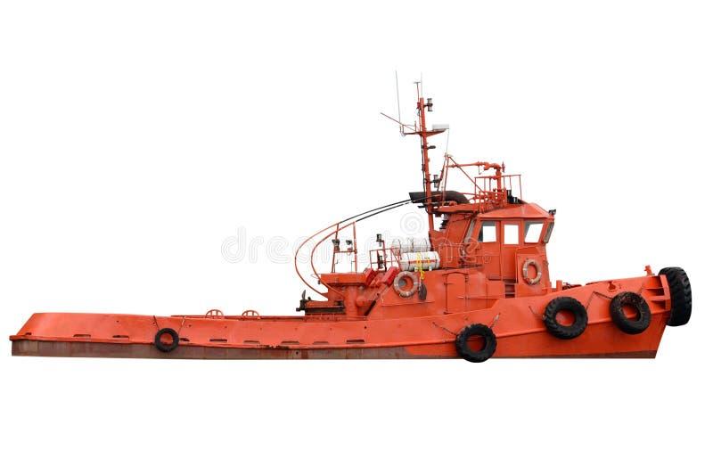 Geïsoleerde sleepbootboot royalty-vrije stock afbeeldingen