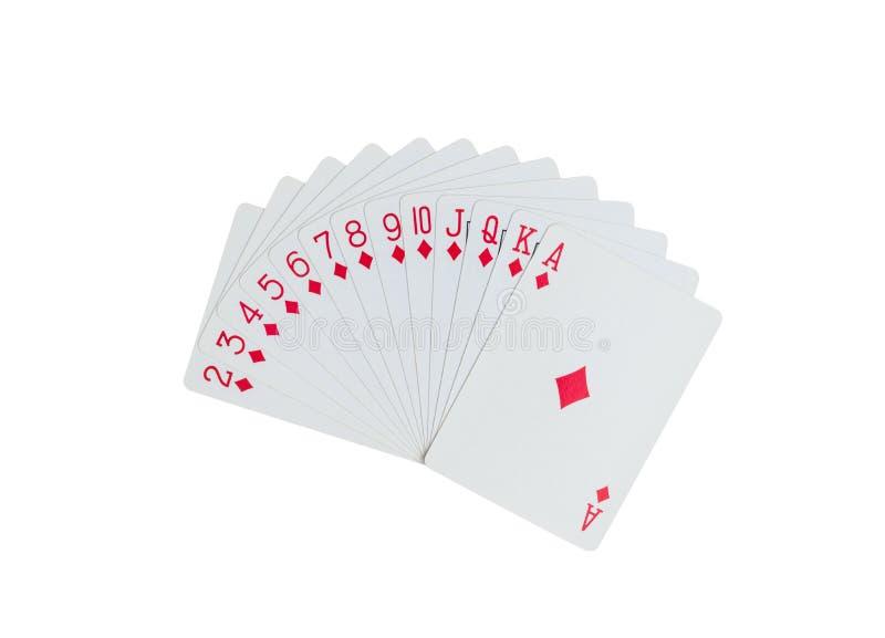 Geïsoleerde speelkaarten royalty-vrije stock foto's