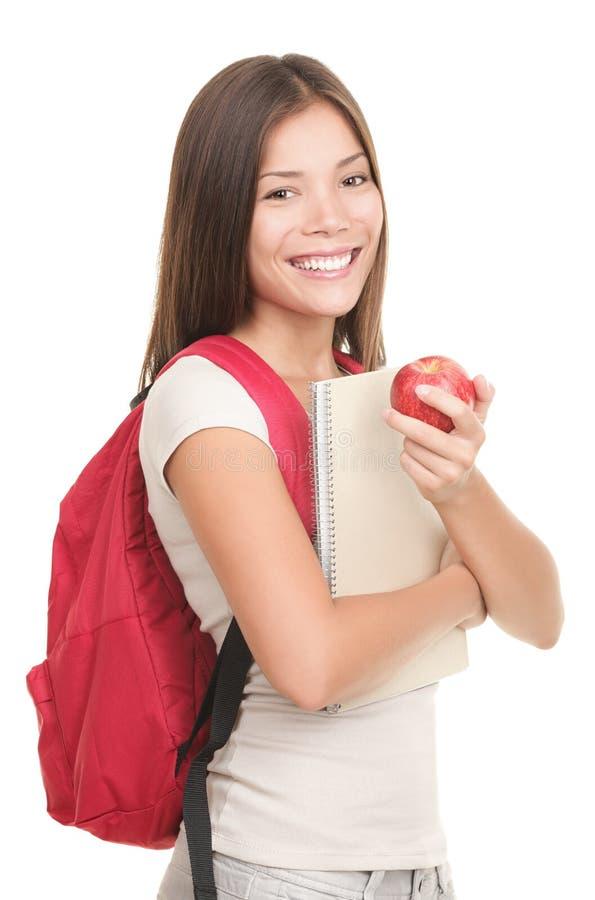 Geïsoleerde Student - vrouw stock foto's