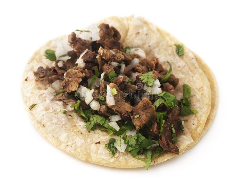 Geïsoleerde Taco royalty-vrije stock afbeeldingen