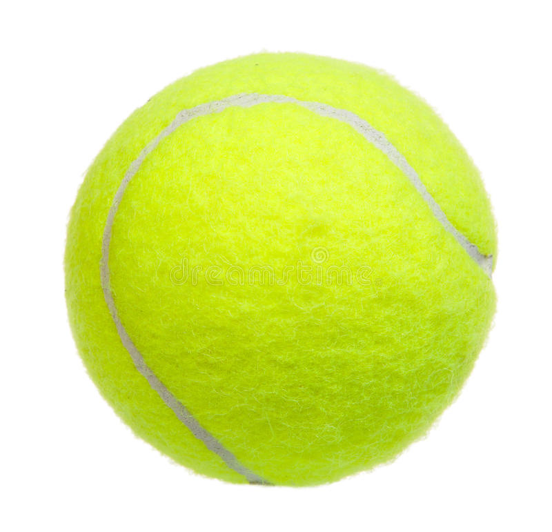 Geïsoleerde tennisbal stock foto's