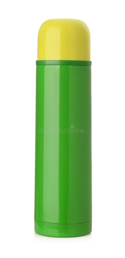 Geïsoleerde thermosfles royalty-vrije stock afbeelding