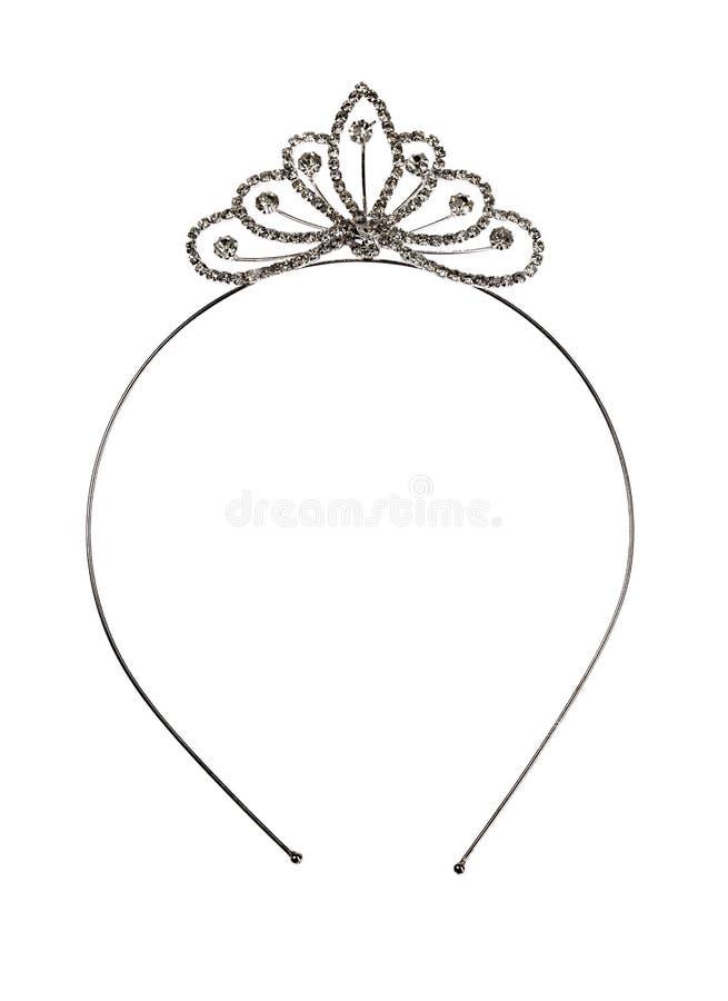 Geïsoleerde tiara stock afbeelding