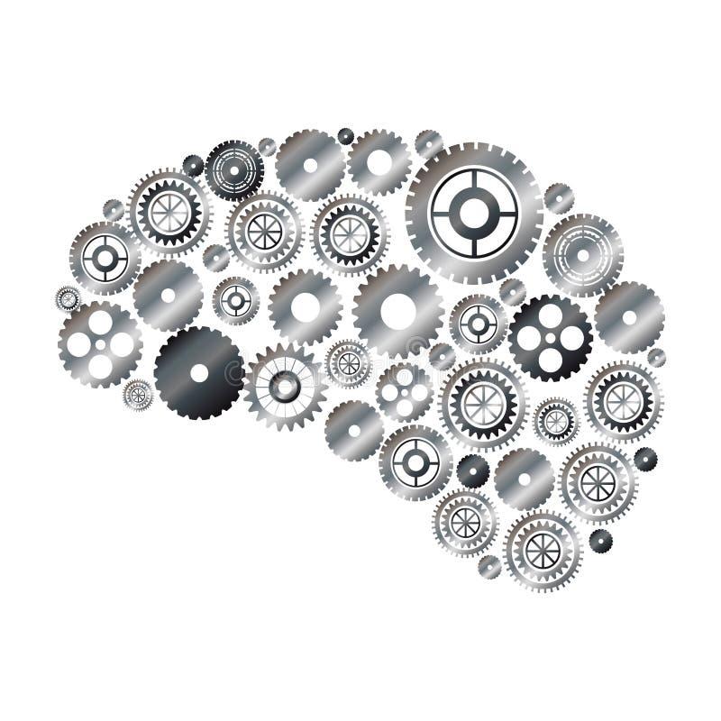 Geïsoleerde toestellen en hersenenontwerp royalty-vrije illustratie