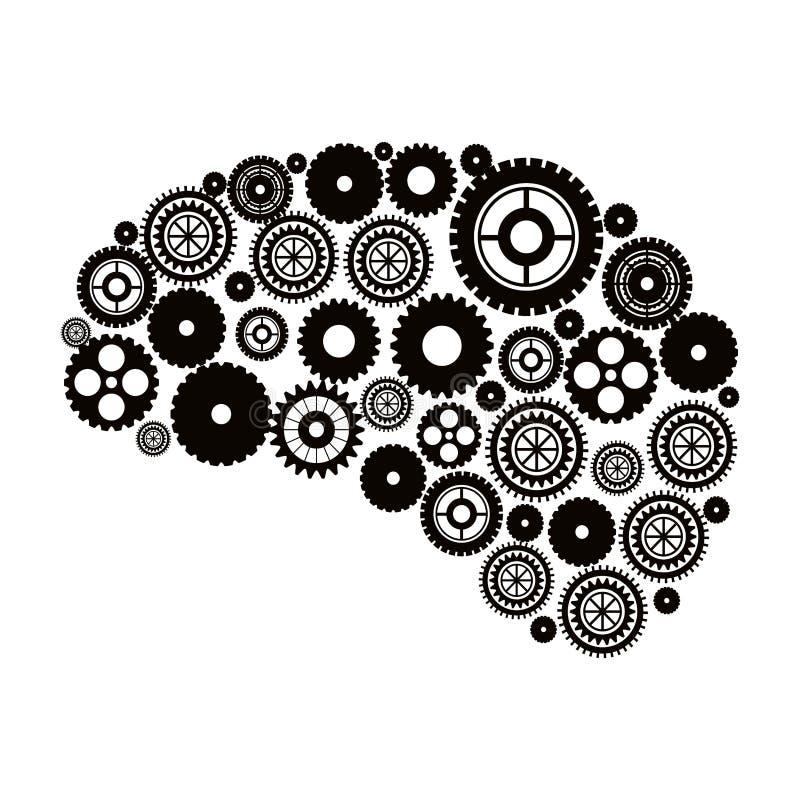 Geïsoleerde toestellen en hersenenontwerp stock illustratie
