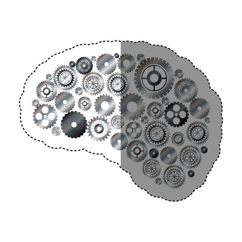 Geïsoleerde toestellen en hersenenontwerp vector illustratie