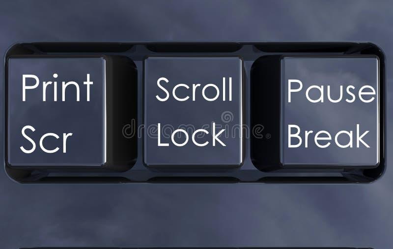 Geïsoleerde toetsenbordknopen stock illustratie