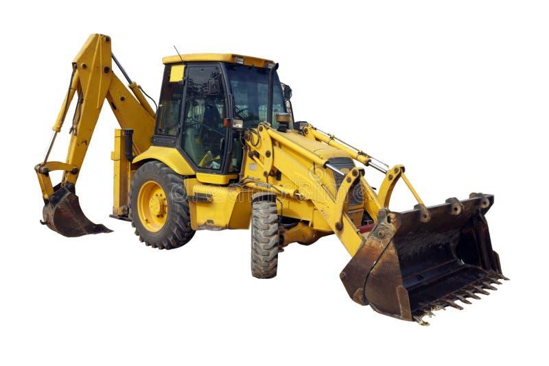 Geïsoleerde tractor stock foto