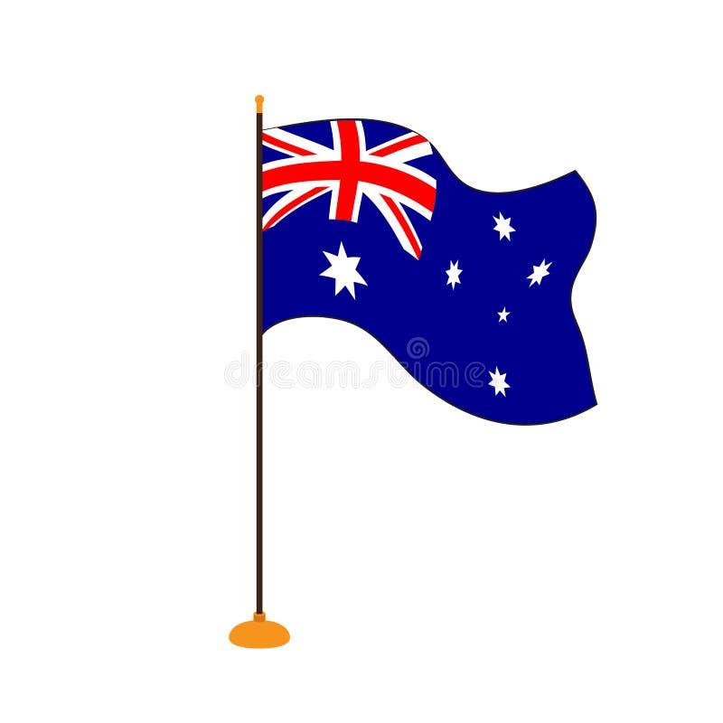 Geïsoleerde vlag van Australië stock illustratie