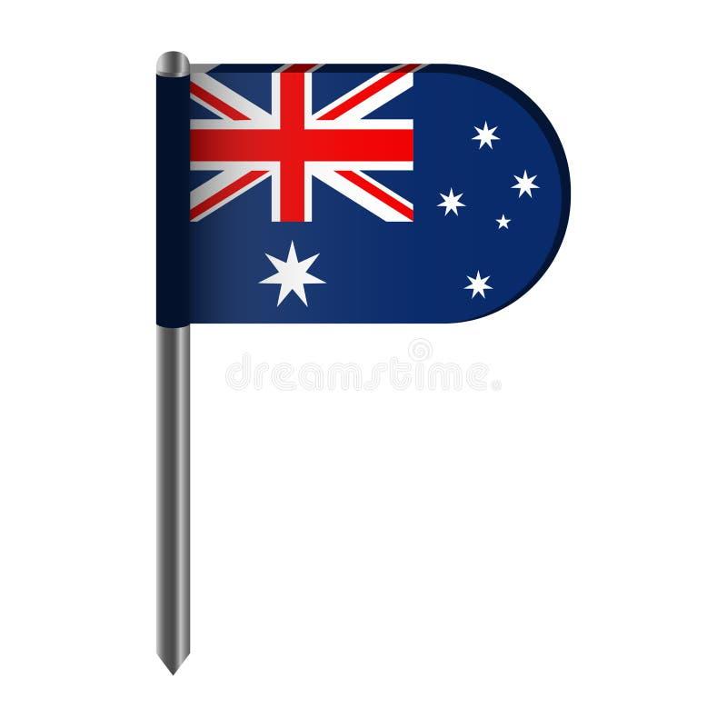 Geïsoleerde vlag van Australië royalty-vrije illustratie