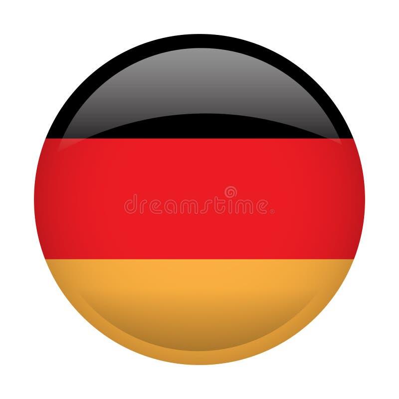 Geïsoleerde vlag van Duitsland stock illustratie