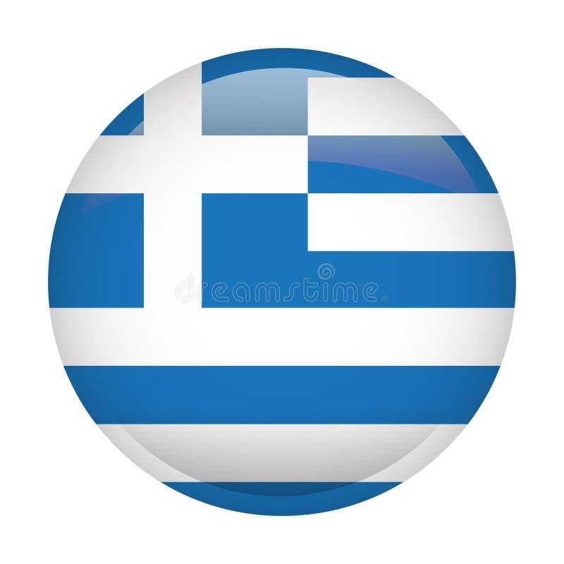 Geïsoleerde vlag van Griekenland stock illustratie