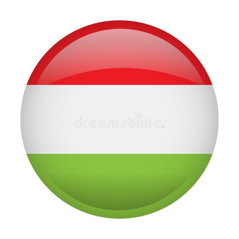 Geïsoleerde vlag van Hongarije stock illustratie