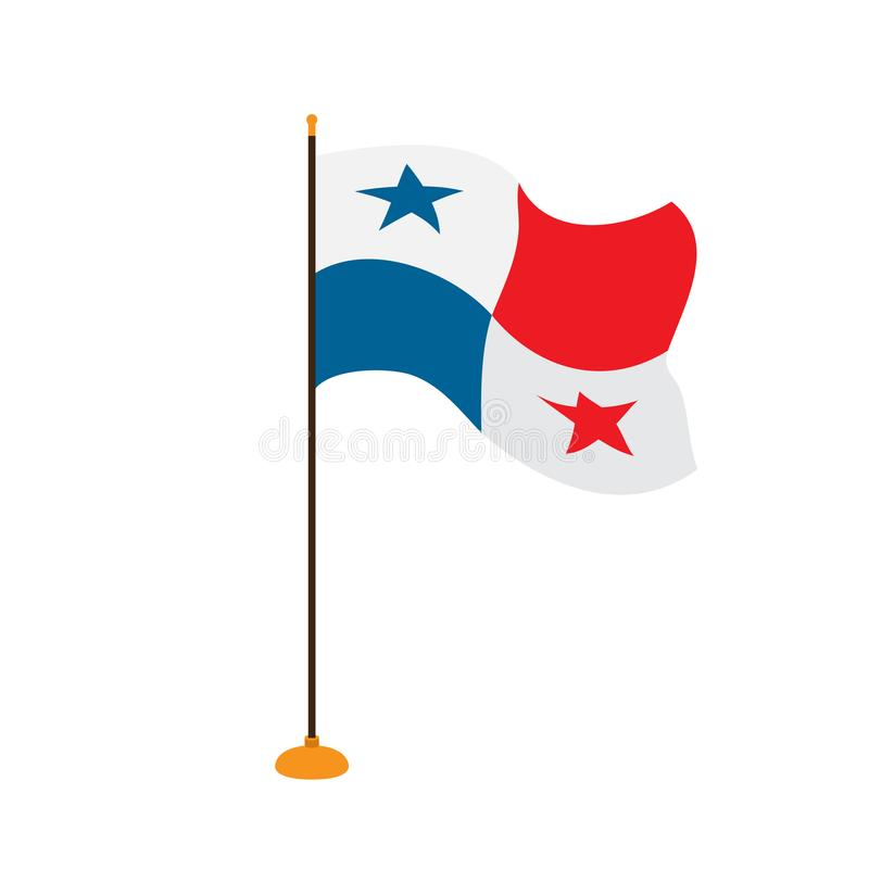 Geïsoleerde vlag van Panama stock illustratie