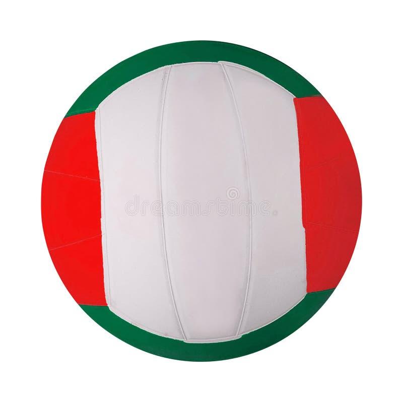 Geïsoleerde volleyballbal royalty-vrije stock afbeeldingen