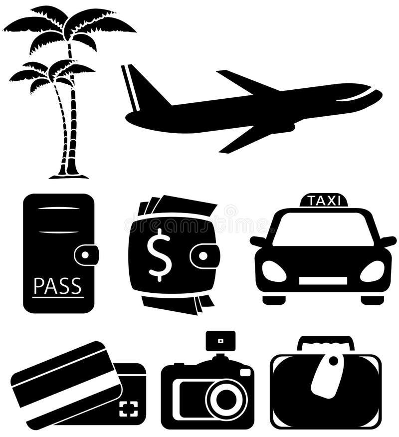 Geïsoleerde voorwerpen voor reis stock illustratie