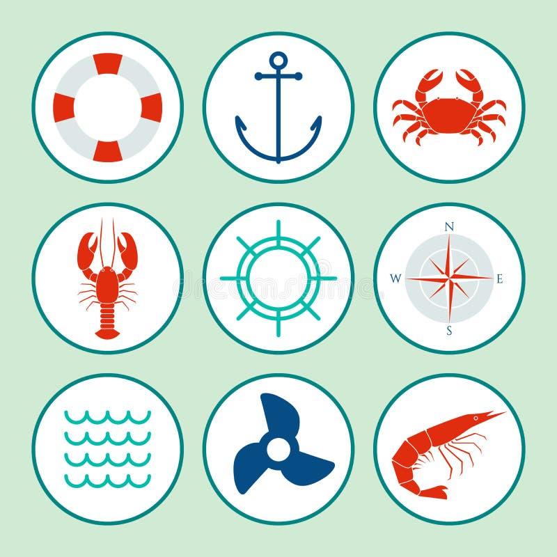 Geïsoleerde vormen royalty-vrije illustratie