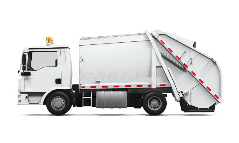 Geïsoleerde vuilnisauto stock illustratie