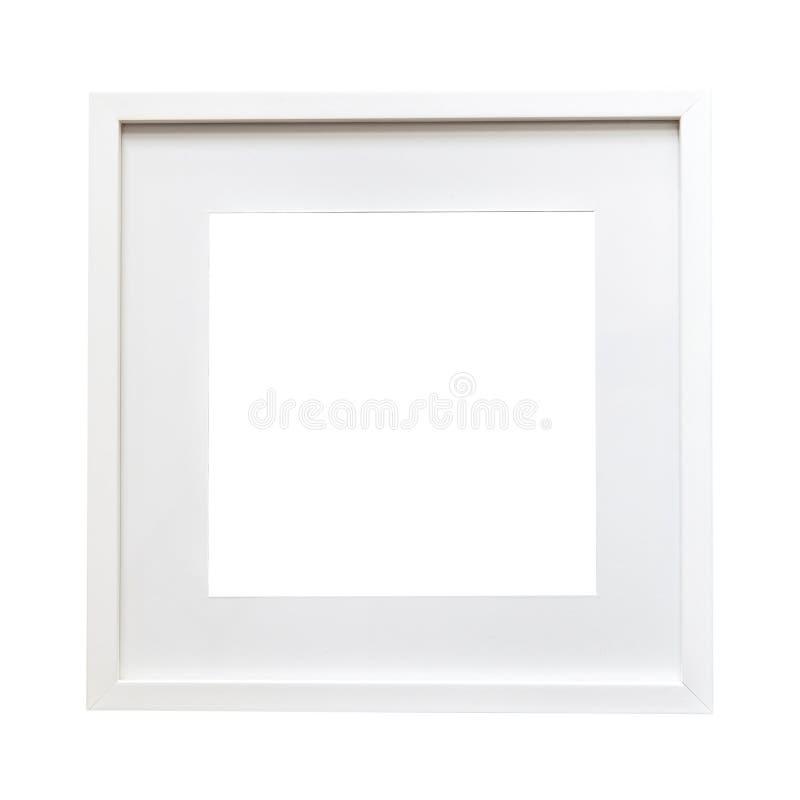 Geïsoleerde witte kaderspot omhoog stock afbeeldingen