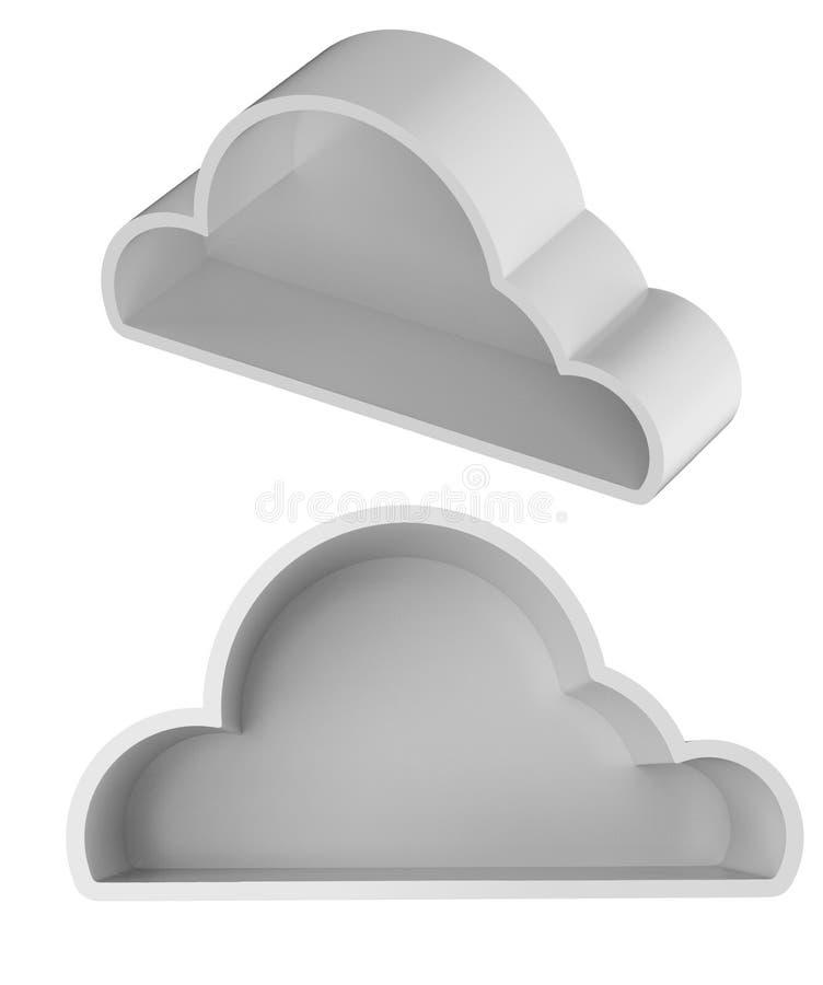 Geïsoleerde wolkenopslag vector illustratie