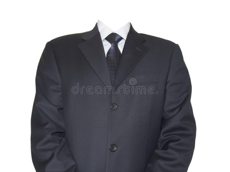 Geïsoleerde zakenman zonder hoofd stock afbeeldingen