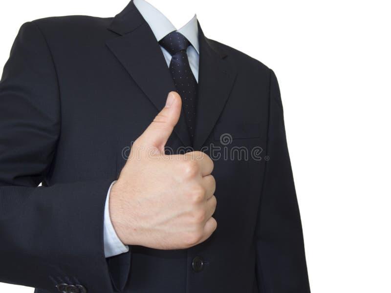 Geïsoleerde zakenman zonder hoofd royalty-vrije stock afbeeldingen