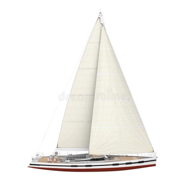Geïsoleerde zeilboot stock illustratie