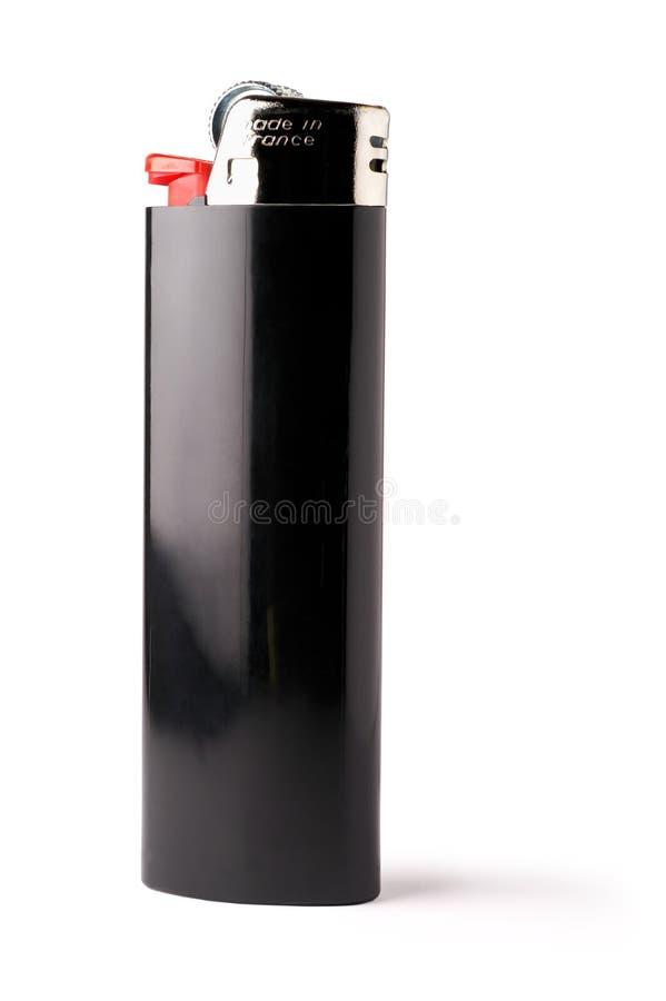 Geïsoleerde zwarte aansteker stock fotografie