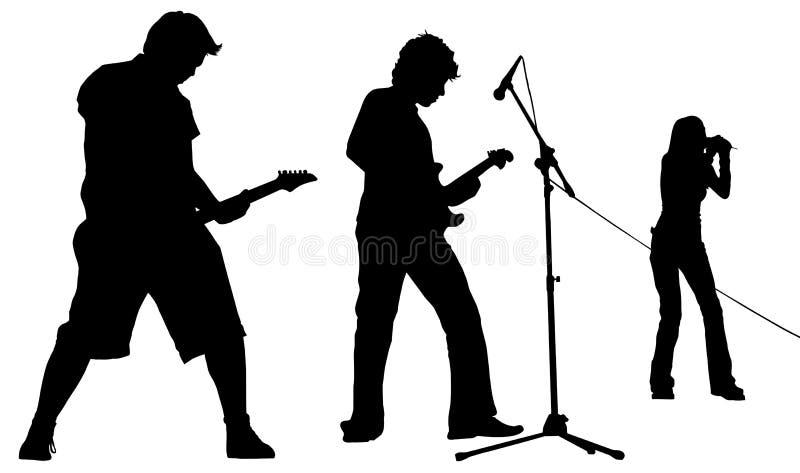 Geïsoleerde0 band royalty-vrije illustratie
