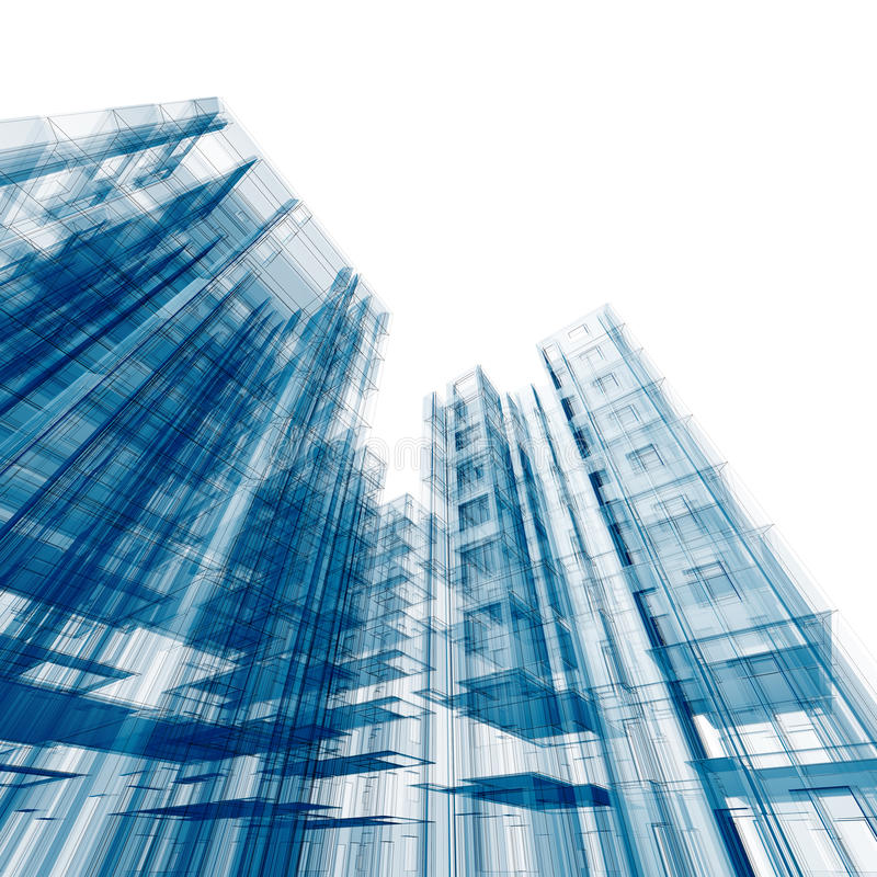 Geïsoleerdea architectuur vector illustratie