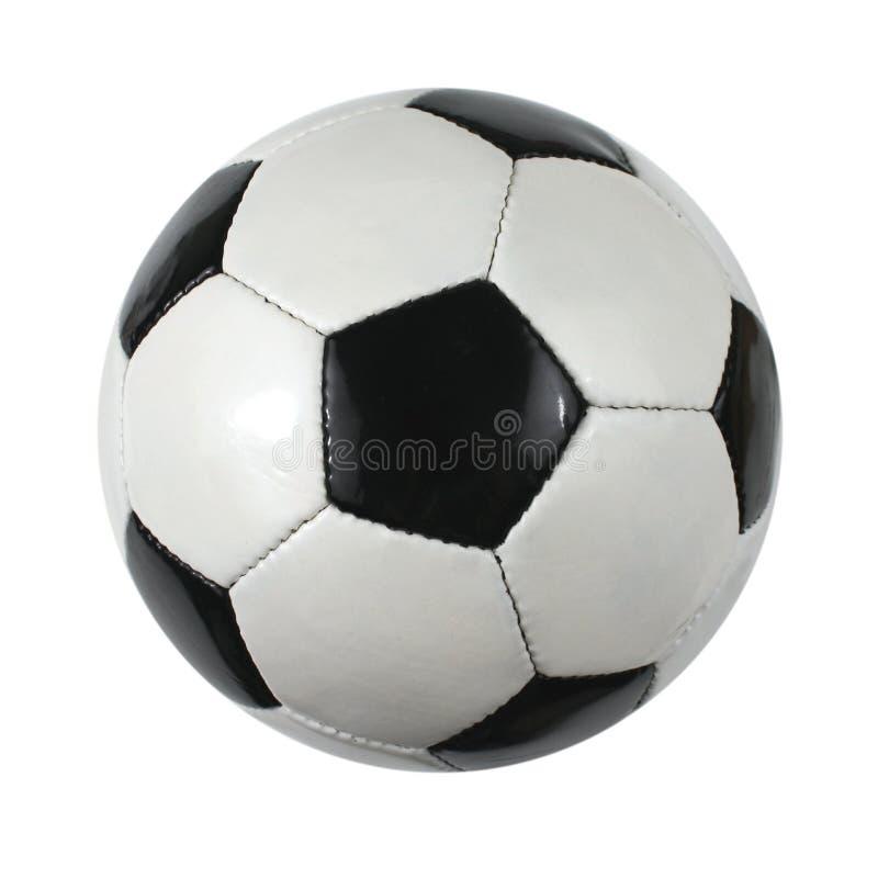 Geïsoleerdea de bal van het voetbal royalty-vrije stock afbeelding