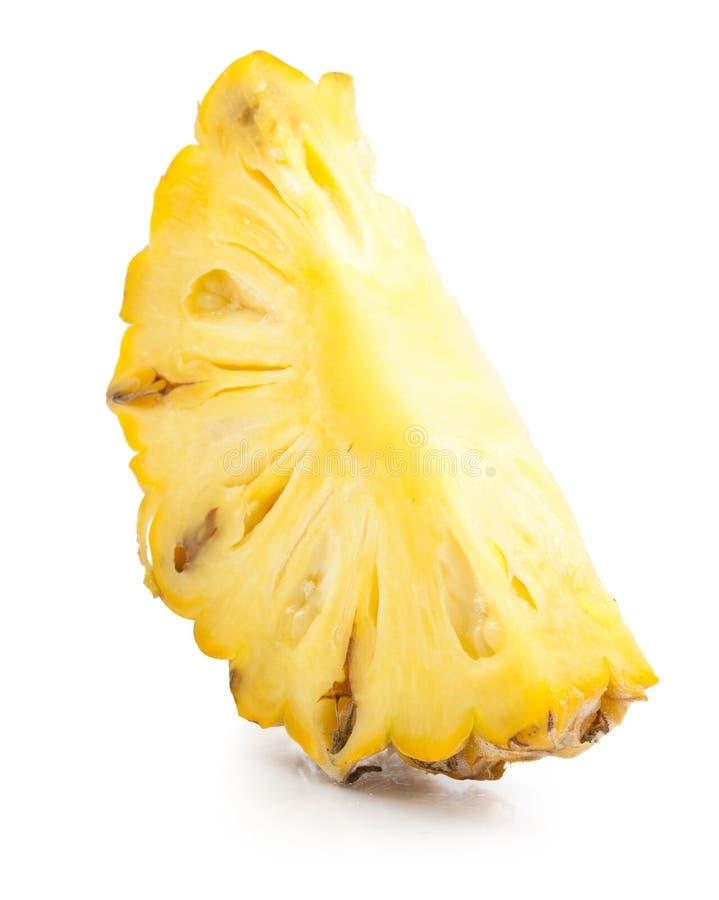 Geïsoleerdea de plakken van de ananas royalty-vrije stock afbeelding