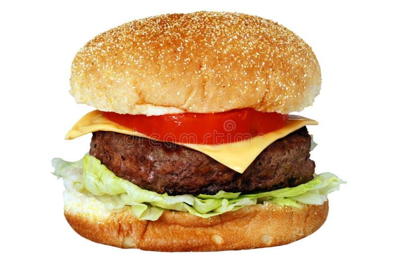 Geïsoleerdea hamburger stock foto