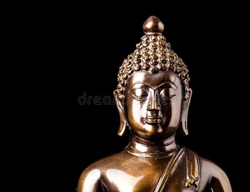 Geïsoleerdea het standbeeld van Boedha stock afbeelding