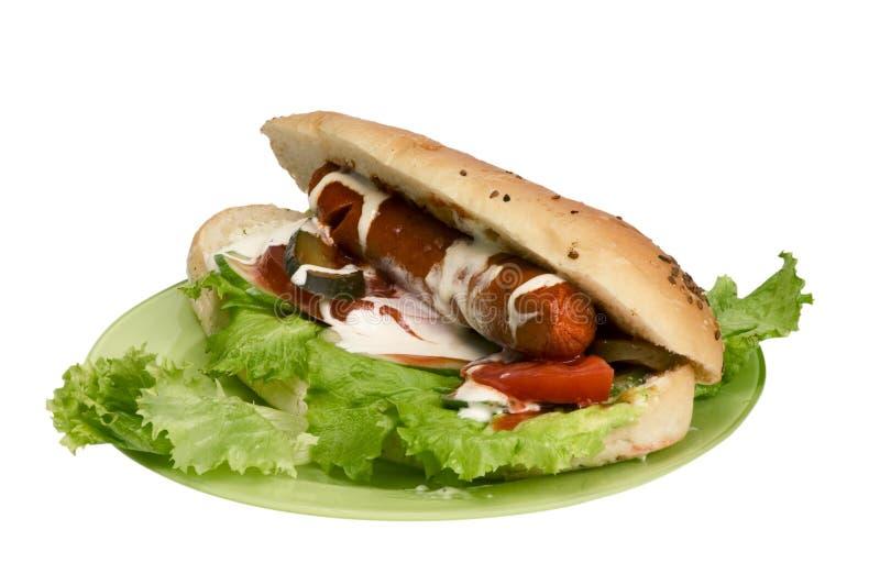 Geïsoleerdea hotdog stock fotografie