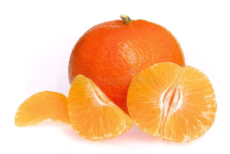 Geïsoleerdea mandarijn royalty-vrije stock afbeelding