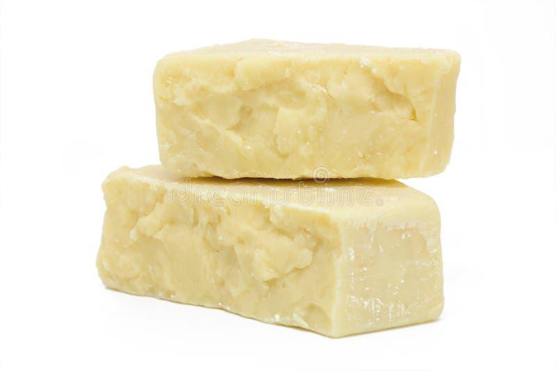 Geïsoleerdeb de Blokken van de kaas royalty-vrije stock foto's