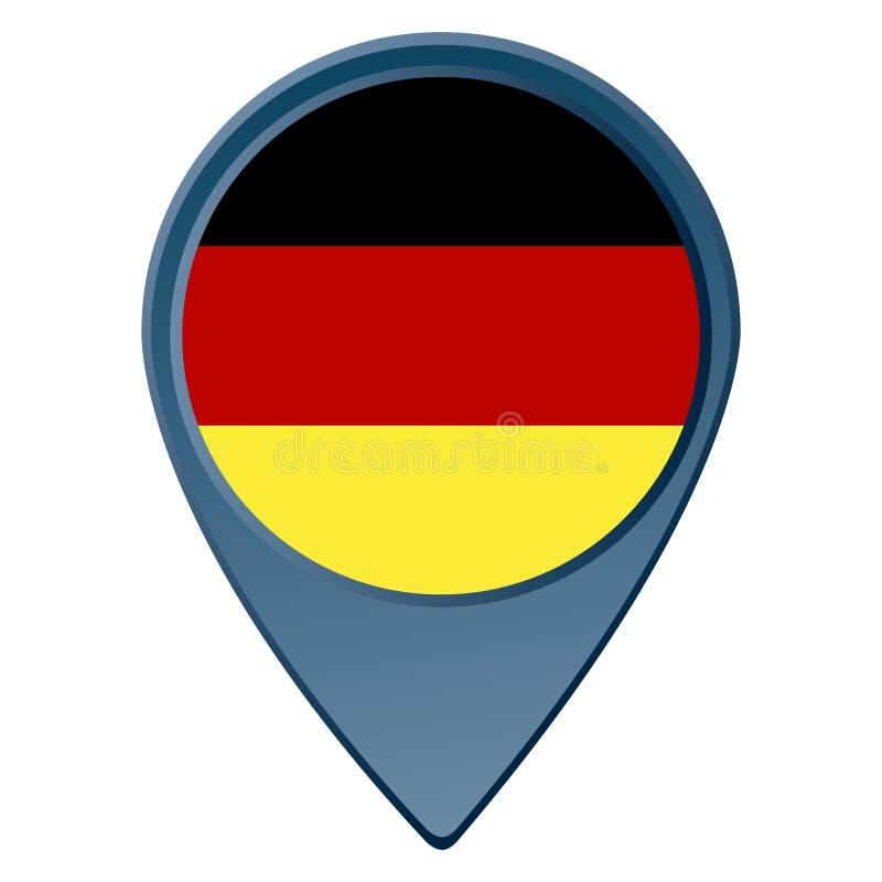 Geïsoleerdeb Duitse Vlag vector illustratie