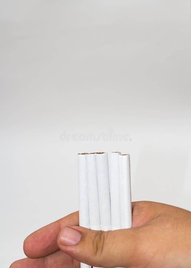 Geïsoleerdeb Sigaret royalty-vrije stock foto's