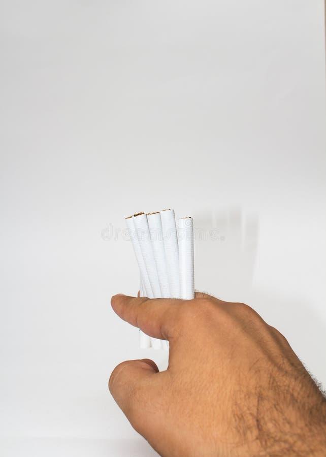 Geïsoleerdeb Sigaret stock fotografie