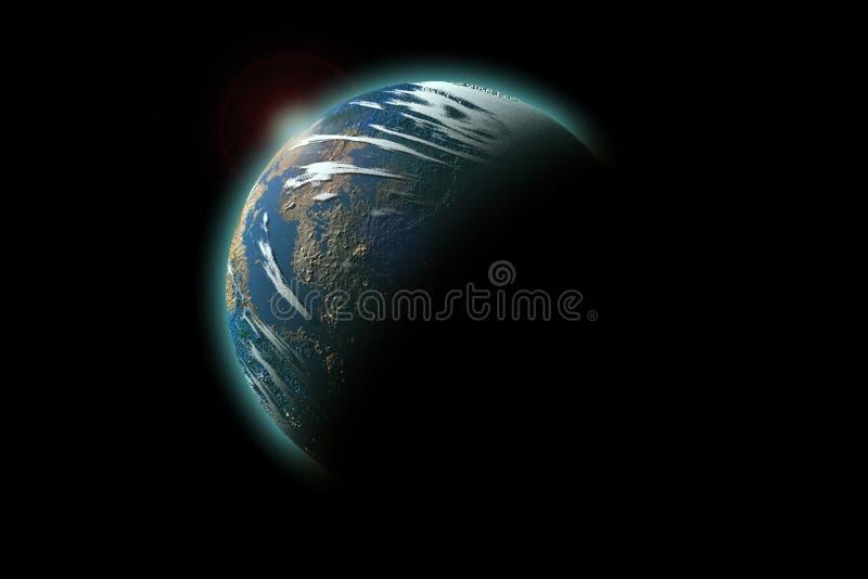 Geïsoleerdec aarde royalty-vrije stock foto
