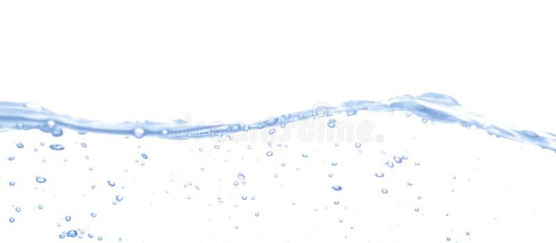 Geïsoleerdec de plons van het water royalty-vrije stock fotografie