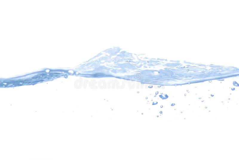 Geïsoleerdec de plons van het water stock fotografie