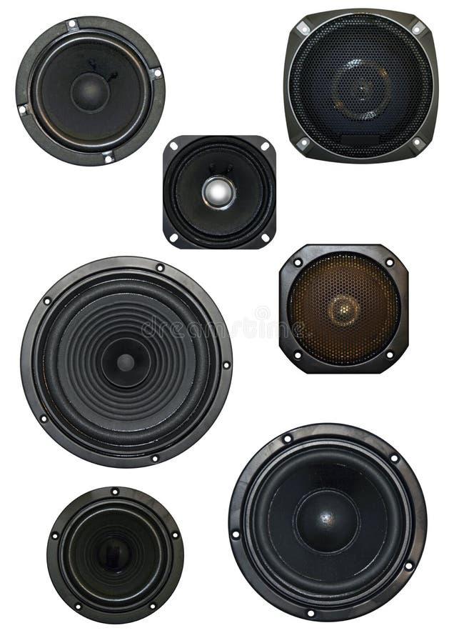 Geïsoleerdec luidspreker stock fotografie