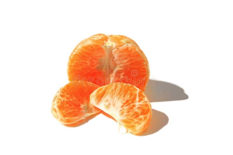 Geïsoleerdec Mandarine stock afbeeldingen