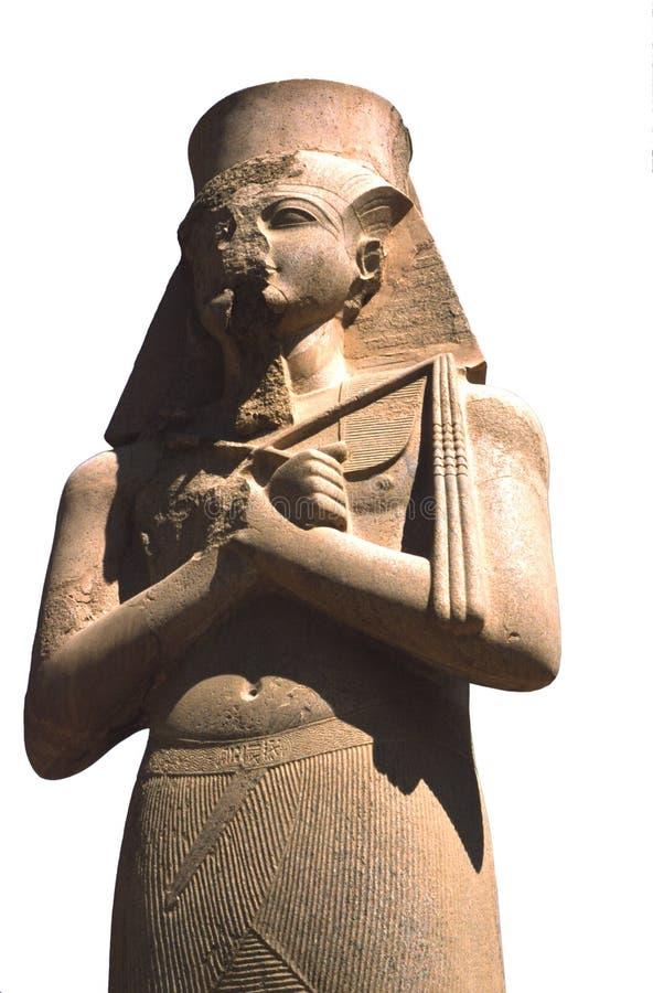 Geïsoleerdec Ramses pharoah stock afbeelding