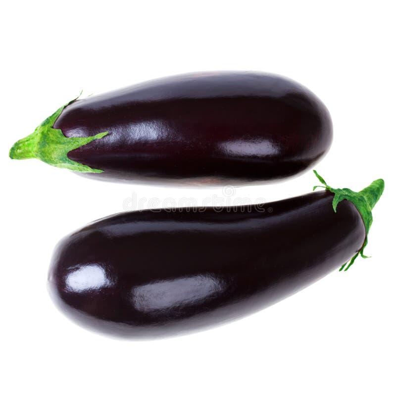 Geïsoleerded aubergine stock foto's