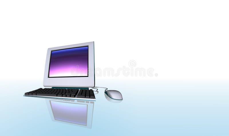 Geïsoleerded computer   royalty-vrije illustratie